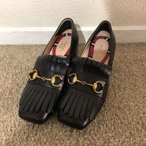 Gucci black leather shoes Size 36.5 (6.5)